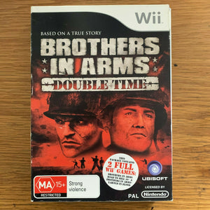 Brothers in Arms Double Time (2 Games) Nintendo Wii Video Game - Complete Boxed