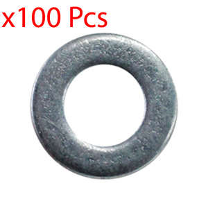 x100 Pcs Flat Washer M6 6mm - 6.4mm x 12.5mm x 1.2mm Marine Zinc-Plated ZP
