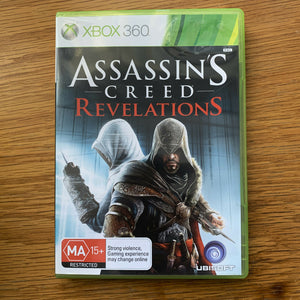 Assassin's Creed Revelations for Microsoft Xbox 360 Case Disc, Manual Complete