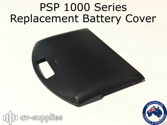 Black Back Battery Cover for Sony Playstation Portable PSP 1000 Series Models