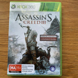 Assassin's Creed III - for Microsoft Xbox 360 - Case, Disc, Manual - Complete