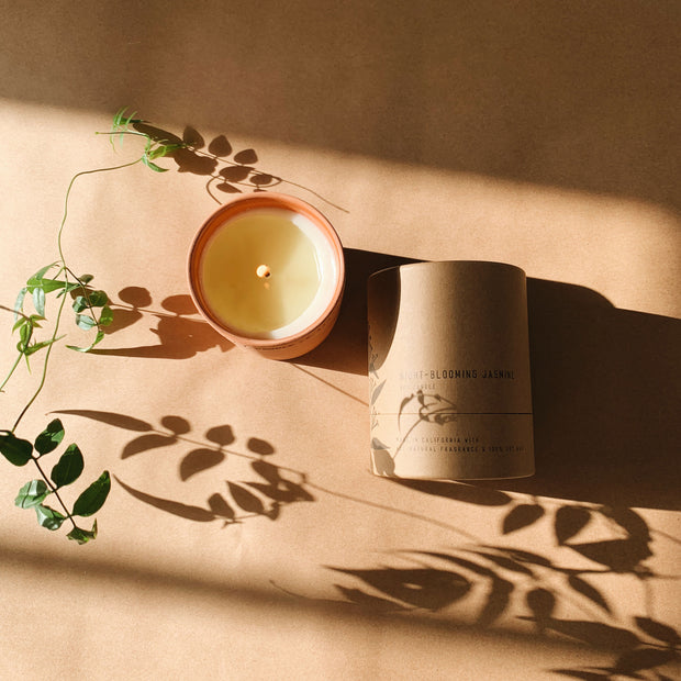 P.F. Candle - Night blooming Jasmine - 8 oz Terra Soy Candle