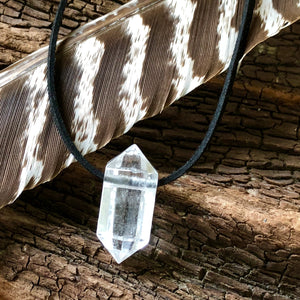 Clear Quartz Double Terminated Pendant