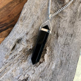 Obsidian Double Terminated Pendant (Medium)