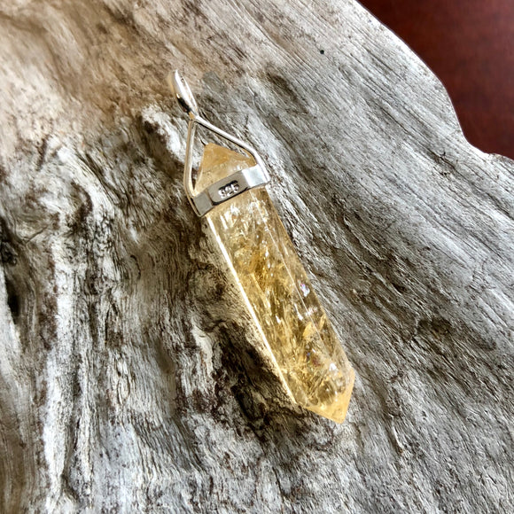 Citrine Double Terminated Pendant (Medium)