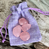 Rose Quartz Tumbled Stones (A Grade)