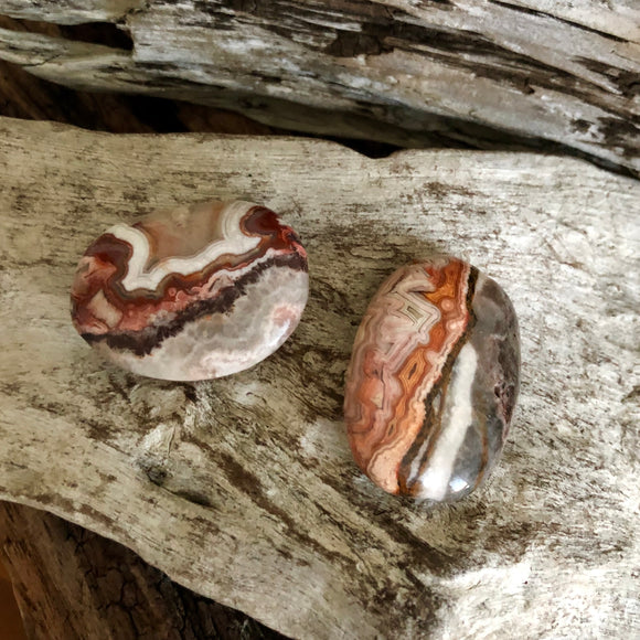 Crazy Lace Agate Palm Stones