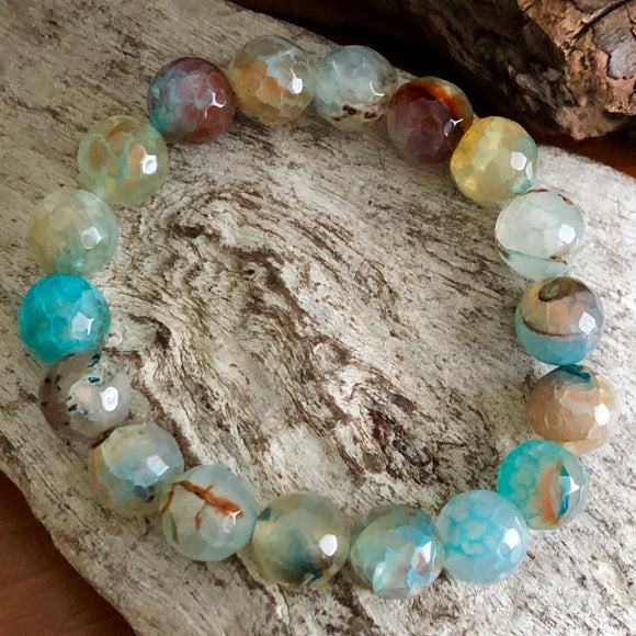 Agate Faceted Bracelet