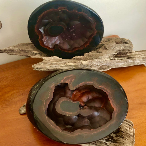 Agate Geode Pot ~ Red Fox Agate