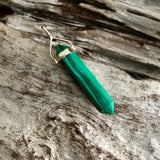 Malachite Double Terminated Pendant (Medium)