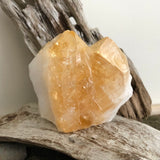 Citrine Point with Cut Base