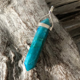 Chrysocolla Double Terminated Pendant (Medium)