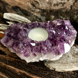 Amethyst Tea Light Candle Holder