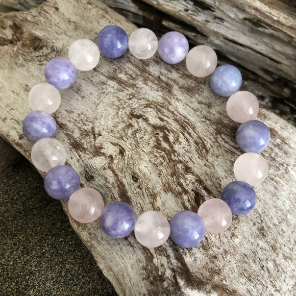 Rose Quartz and Angelite Bracelet