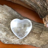 Clear Quartz Puff Heart