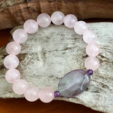 Rose Quartz and Fluorite Bracelet