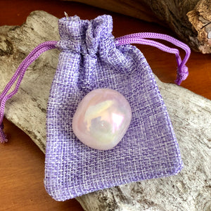 Rose Aura Quartz Tumbled Stone