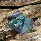 Rainbow Fluorite Faceted Shape