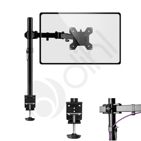 DSK-05 Single Arm Desk Monitor Mount for Screens 13