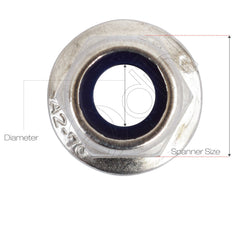 Nylon Flanged Nut Nyloc A2 Stainless Steel