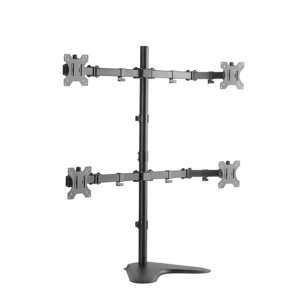 "Four Quad Arm Desk Stand for 13"" - 27"" Monitors"