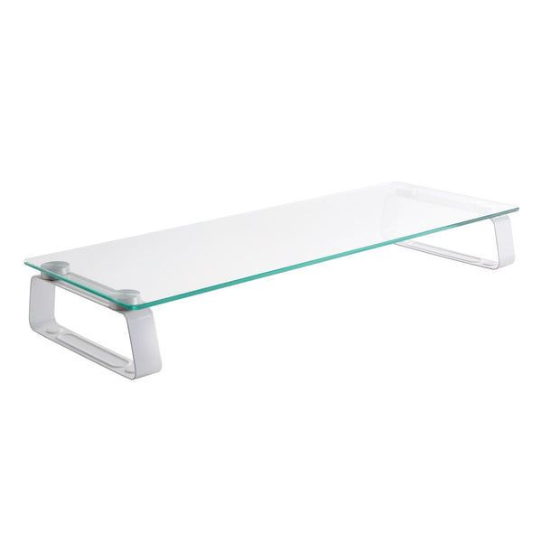 Clear Glass Computer Monitor Riser Stand