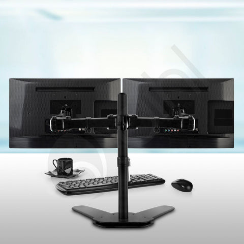 Double Arm Desk Stand for 13