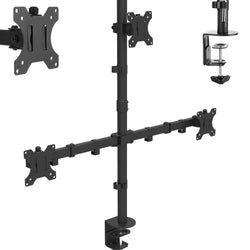 Triple Arm Desk Monitor Mount 13-24""