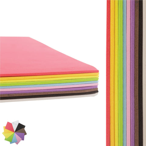 Multi-Colour A4 EVA Foam Sheets Pack of 10