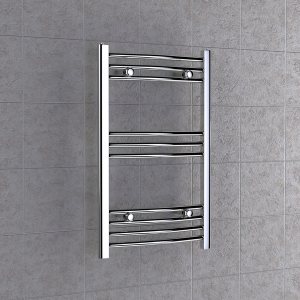 Chrome Curved Towel Radiator 600mm x 800mm