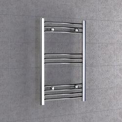 Chrome Curved Towel Radiator 500mm x 800mm
