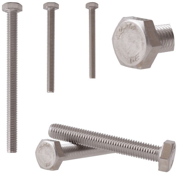 Fully Threaded Hex Bolt Hexagon Head M8