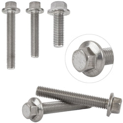 Flanged Bolts A2 Stainless Steel Hexagon Head Screws M6 Flange