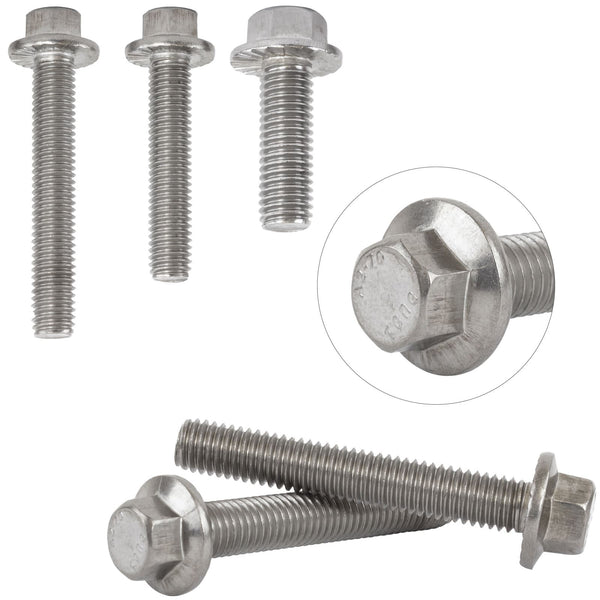 <p>Made from A2 stainless steel for superior strength corrosion resistance. Choose from a range of pack sizes.</p>  <ul> <li>A2 Stainless Steel for superior strength corrosion resistance</li> <li>Made to GB5787 Specifications</li> <li>Hex Head with Flange