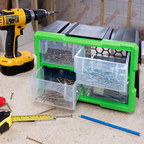 4 Drawer Interlocking Tool & Fixing Storage Unit