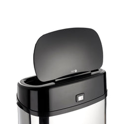 Chrome 68L Rectangle Onyx Sensor Bin