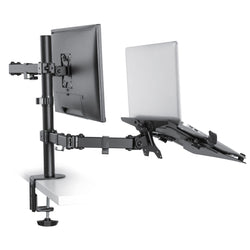 Desk Mount with Pull Out Laptop Stand 75 - 100mm