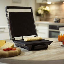 Black 4 Slice Large Sandwich Panini Grill
