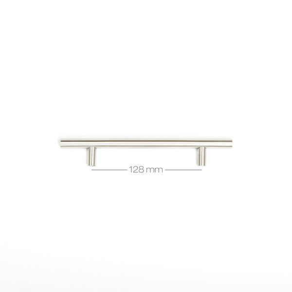 200mm T Bar Furniture Handle Brushed Stainless Steel CC128mm
