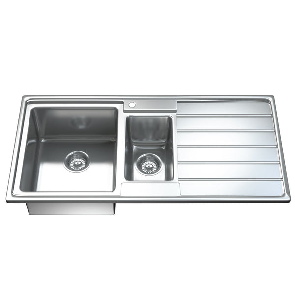 1541 1.5 Bowl Modern Kitchen Sink with Waste