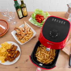 Red 3.2L LED Air Fryer