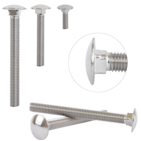 Carriage Bolts A2 Stainless Steel Round Head Coach Screws M10 DIN603