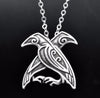 Hugin and Munin Necklace