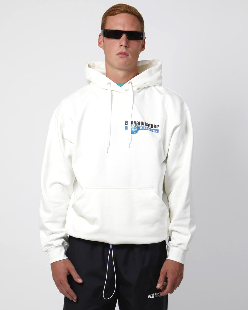 White discovery hoodie