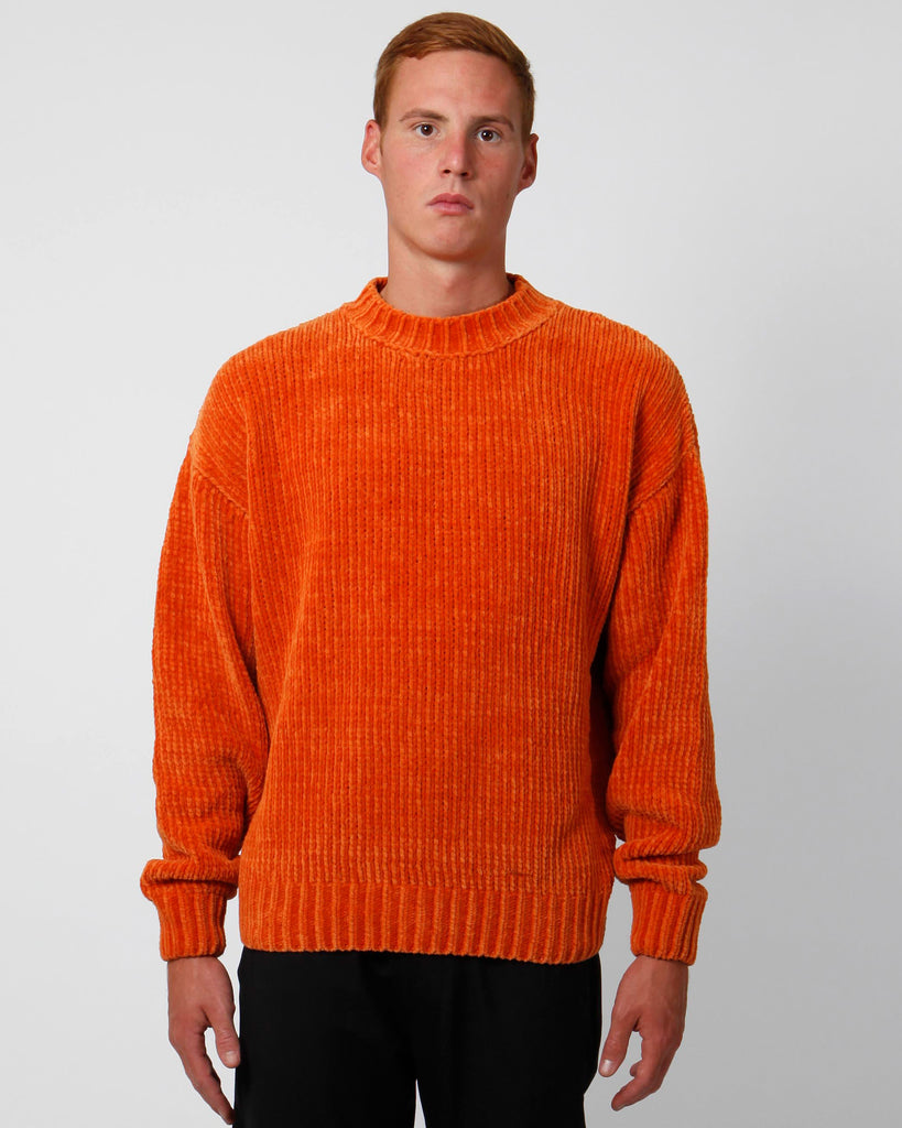 Orange velour sweater