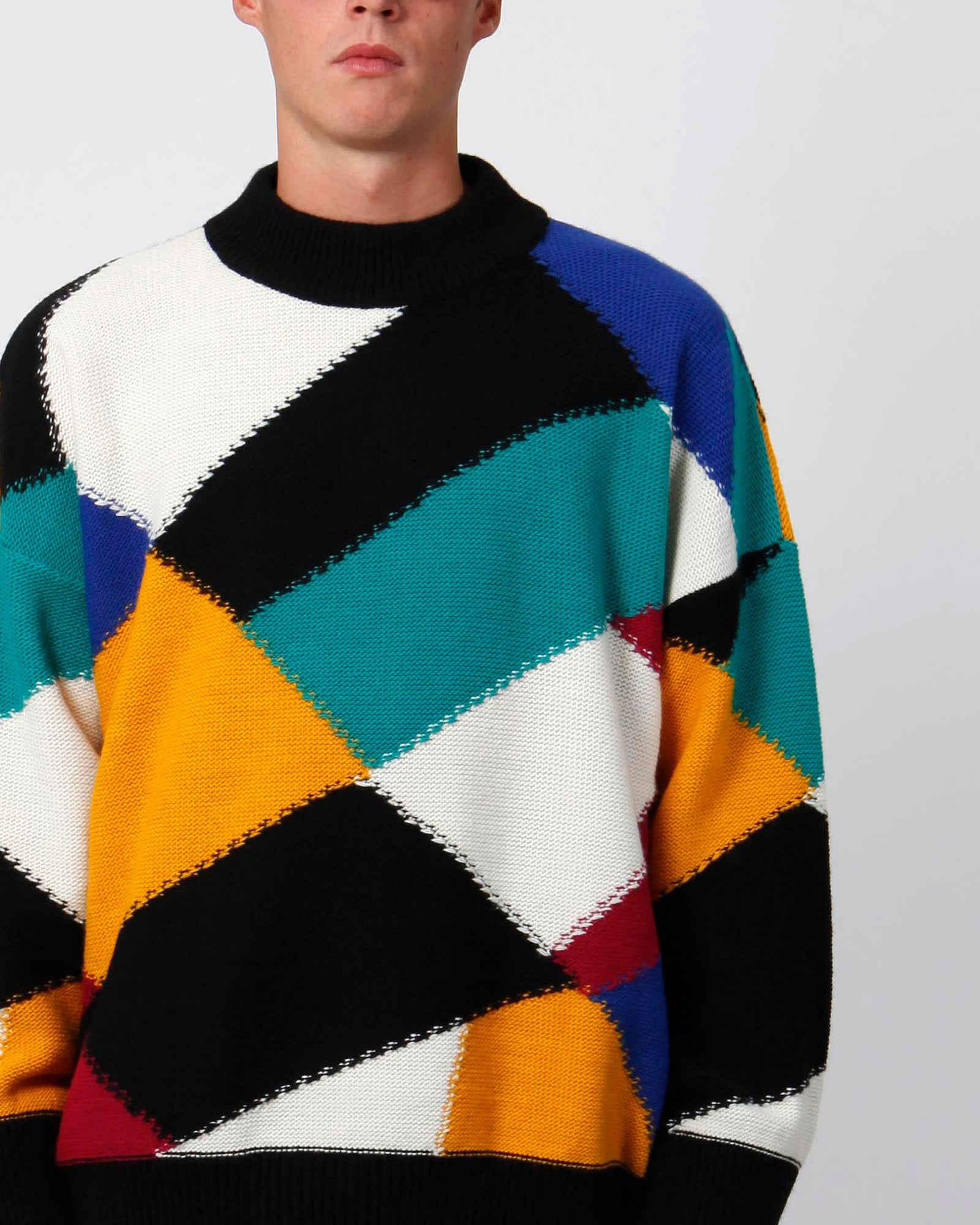 Oversized harlequin sweater