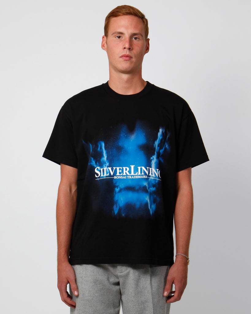 Silver lining black tee