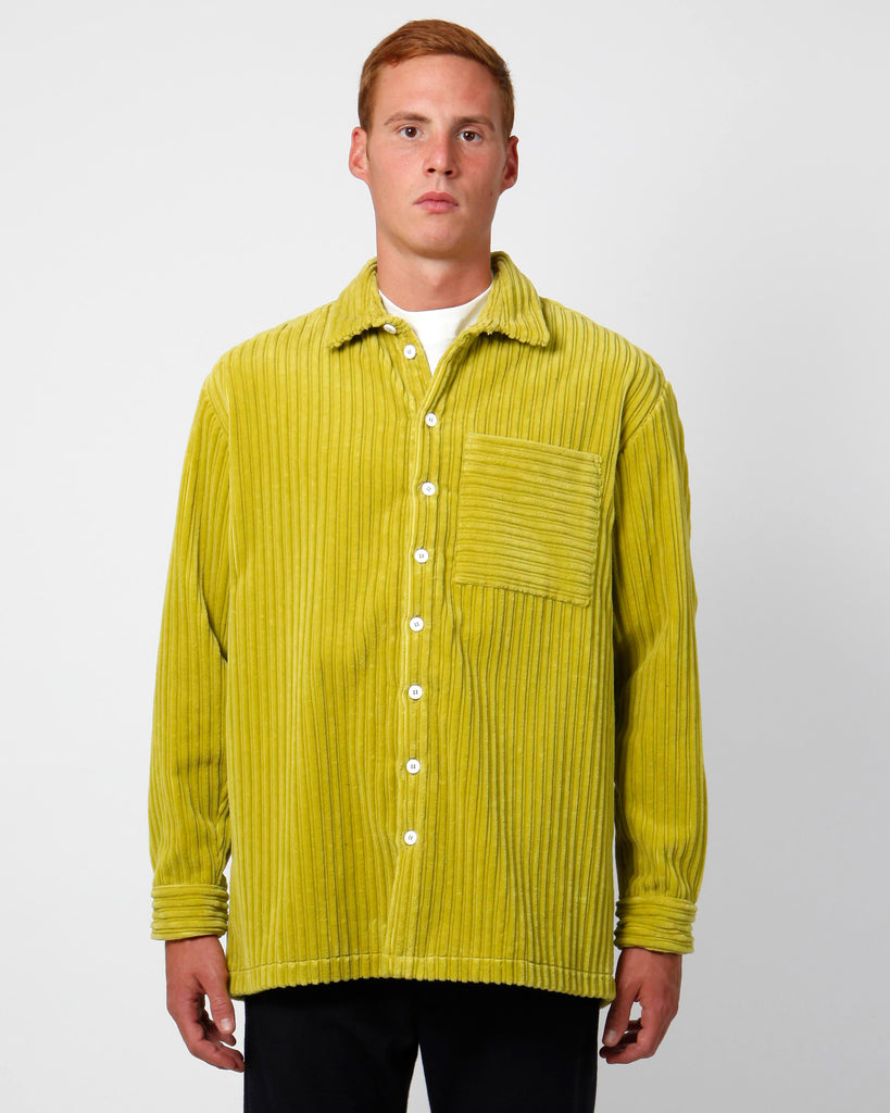 Velvet olive regular shirt