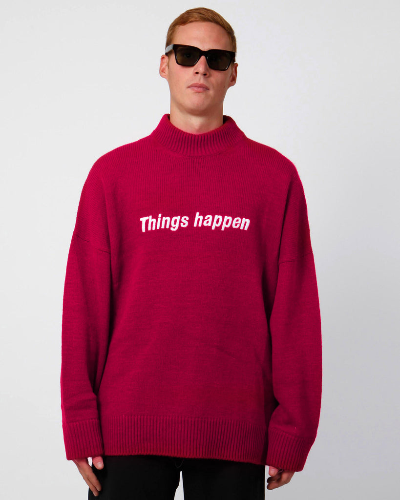 Oversized things happen sweater