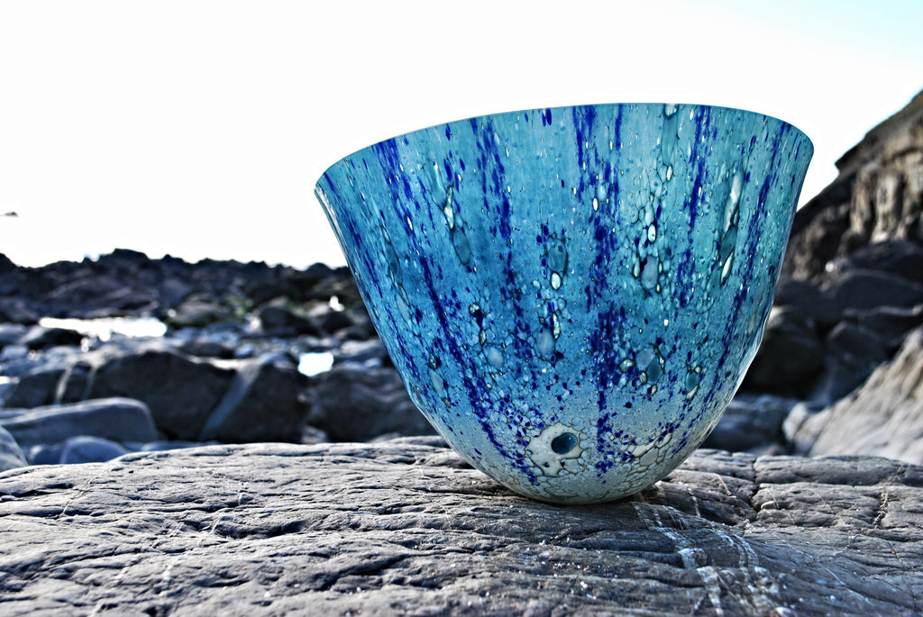 Caspian -Art glass vessel (large) by Gregg Anston-Race